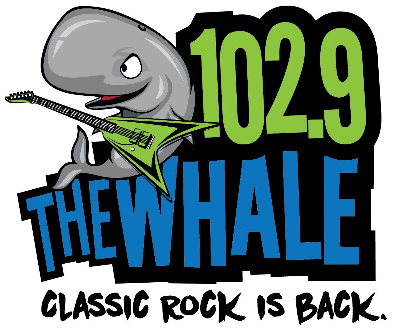 The Whale 102.9 fm radio logo 2015