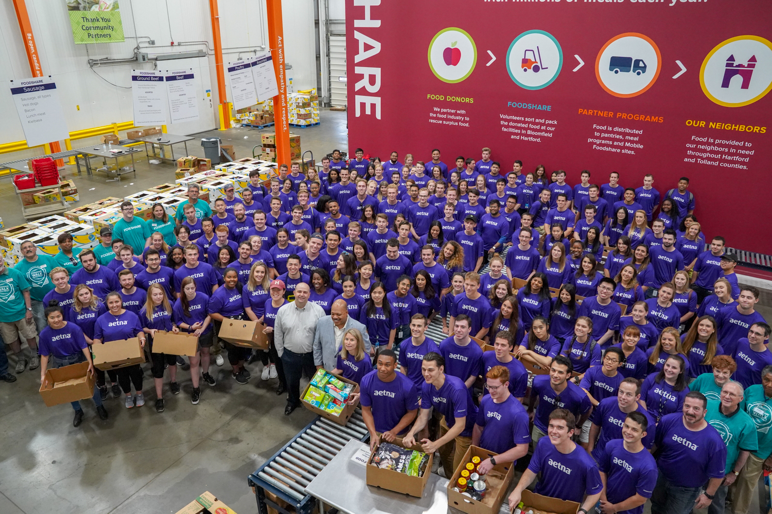 Aetna Inspire U Day Volunteers