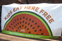NEW - Summer Food free meals sign 2010