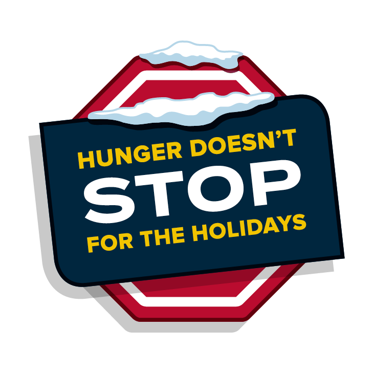 Hunger doesn't stop for the holidays