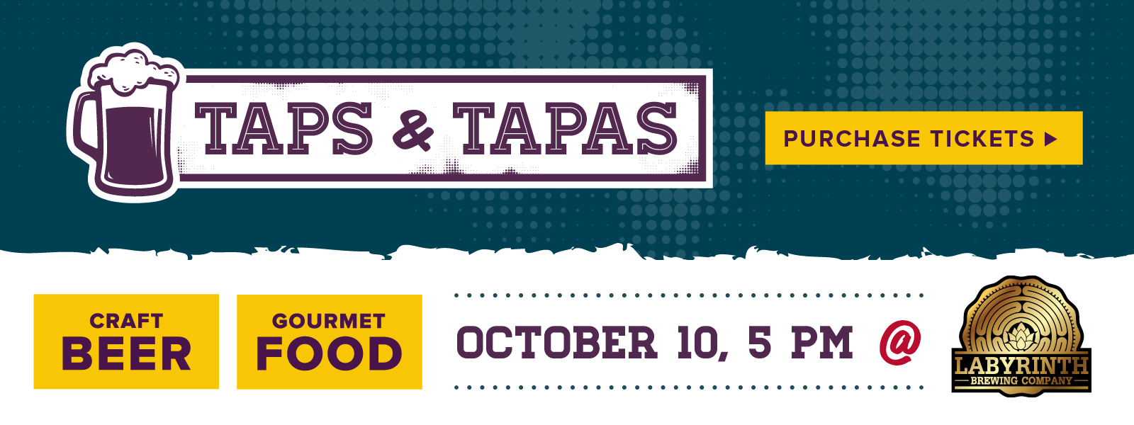 Taps and Tapas Foodshare Labyrinth Brewing Company Event