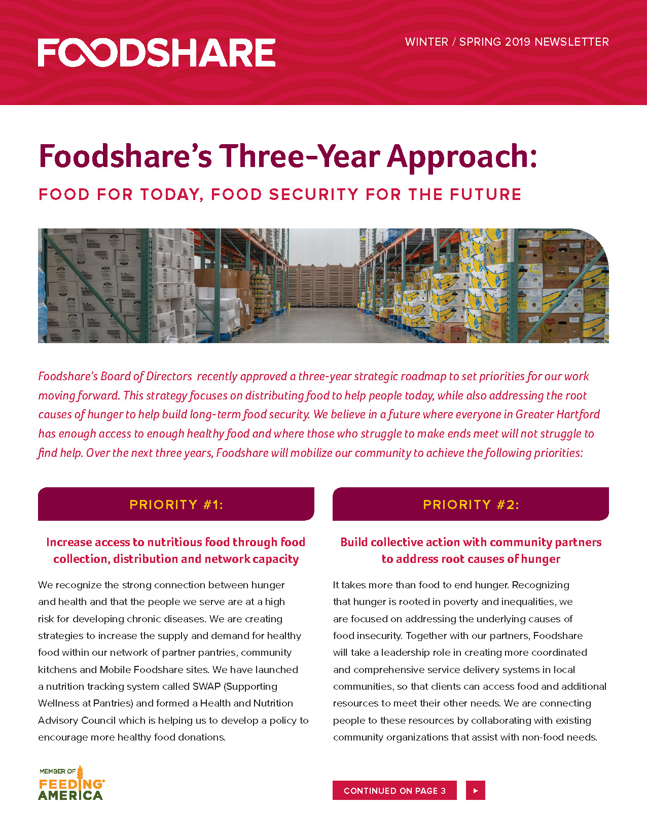 Foodshare Winter/Spring Newsletter 2019